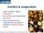 conflict cooperation