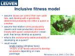 inclusive fitness model