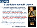 skepticism about if theory