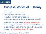 success stories of if theory