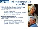 the evolutionary basis of conflict