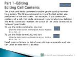 part 1 editing editing cell contents1