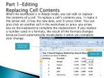 part 1 editing replacing cell contents