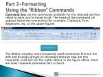 part 2 formatting using the ribbon commands1