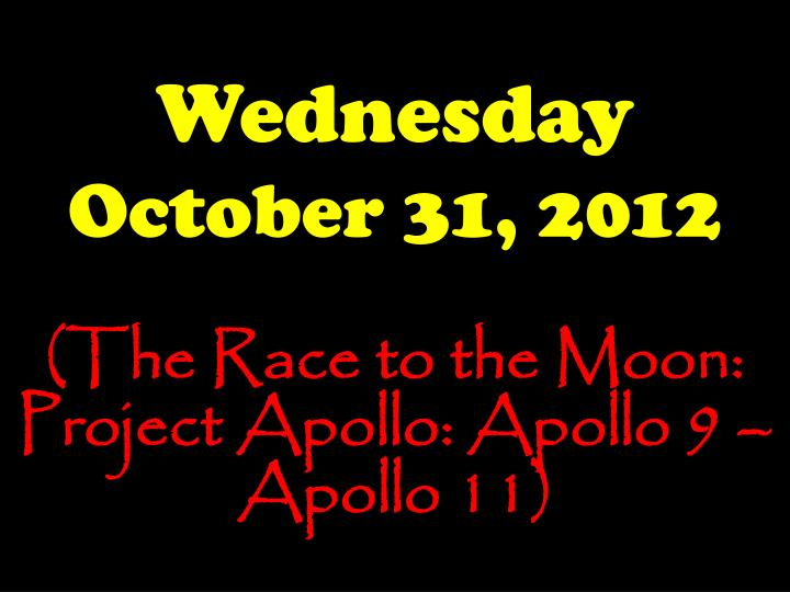 wednesday october 31 2012 n.