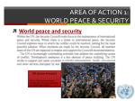 area of action 1 world peace security
