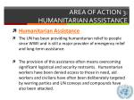 area of action 3 humanitarian assistance2