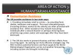 area of action 3 humanitarian assistance3