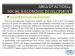 area of action 4 social economic development1