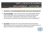 unit 4 health human devlopment outcome 2