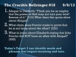 the crucible bellringer 18 9 6 13