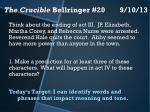 the crucible bellringer 20 9 10 13
