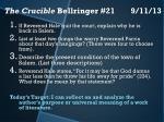 the crucible bellringer 21 9 11 13