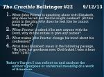 the crucible bellringer 22 9 12 13