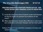 the crucible bellringer 25 9 17 12