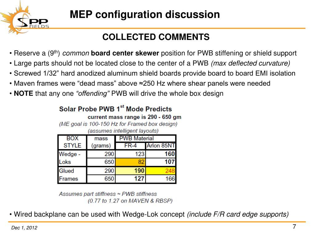 PPT - MEP configuration pros/cons PowerPoint Presentation