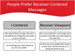 people prefer receiver centered messages