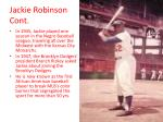 jackie robinson cont