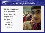 tutor maysum panju