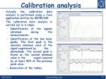 c alibration analysis