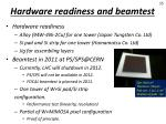 hardware readiness and beamtest