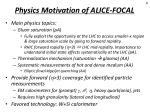 physics motivation of alice focal