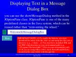 displaying text in a message dialog box