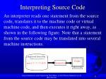 interpreting source code