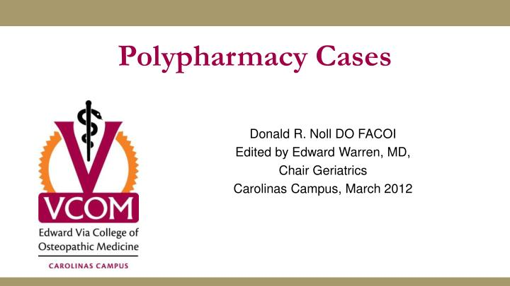 polypharmacy cases n.