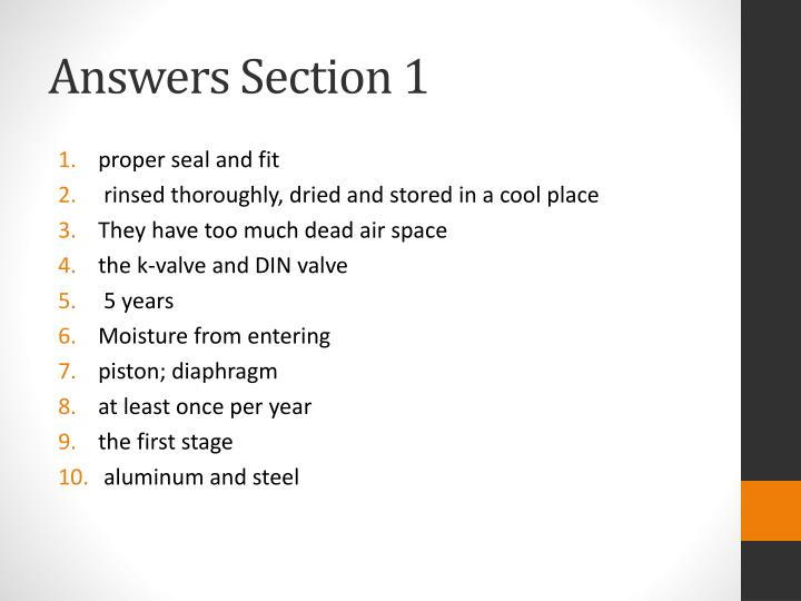 Answers Section 1