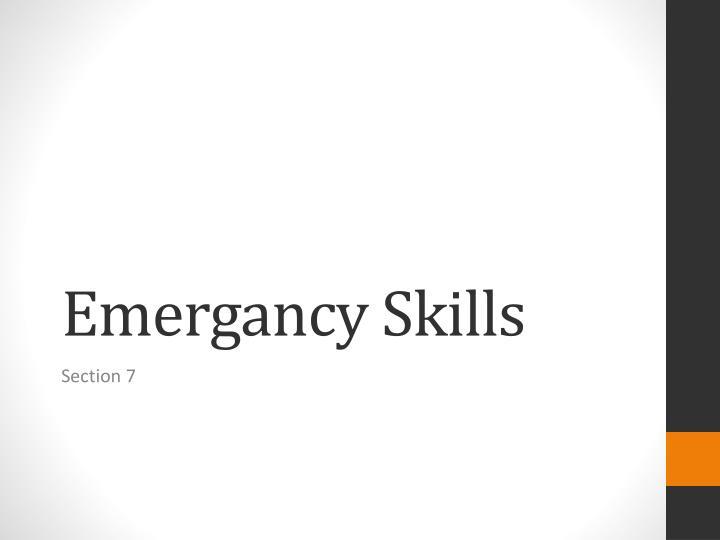 Emergancy
