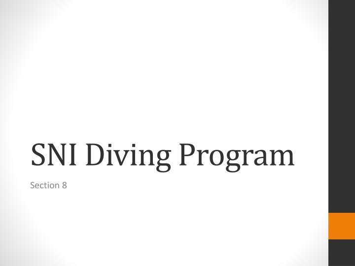 SNI Diving Program