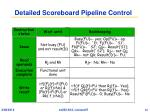 detailed scoreboard pipeline control