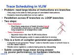 trace scheduling in vliw