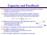 capacity and feedback