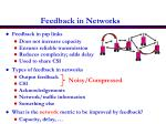 feedback in networks