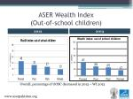aser wealth index out of school children