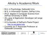 alkoby s academic work