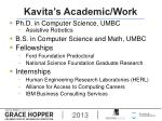 kavita s academic work