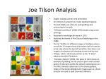 joe tilson analysis