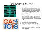 ken garland analysis
