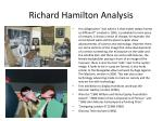 richard hamilton analysis