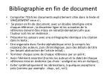 bibliographie en fin de document