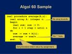 algol 60 sample