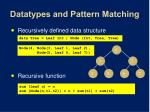 datatypes and pattern matching