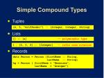 simple compound types