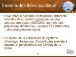incertitudes li es au climat