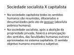 sociedade socialista x capitalista