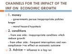 channels for the impact of the imf on economic growth