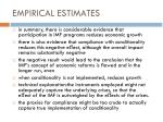empirical estimates4